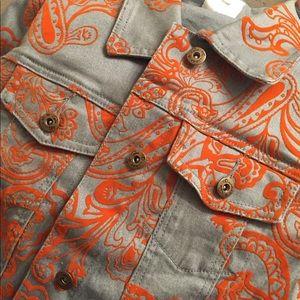 Custom Orange Jean Jacket (Oversized)